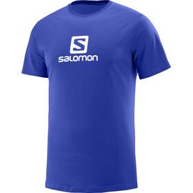 Salomon Coton Logo - Camiseta manga corta Hombre - azul